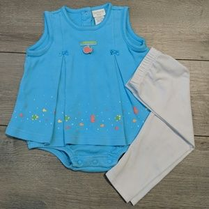 Carter's | Sea Blue Baby Outfit